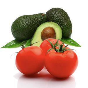 Tomato and Avocado