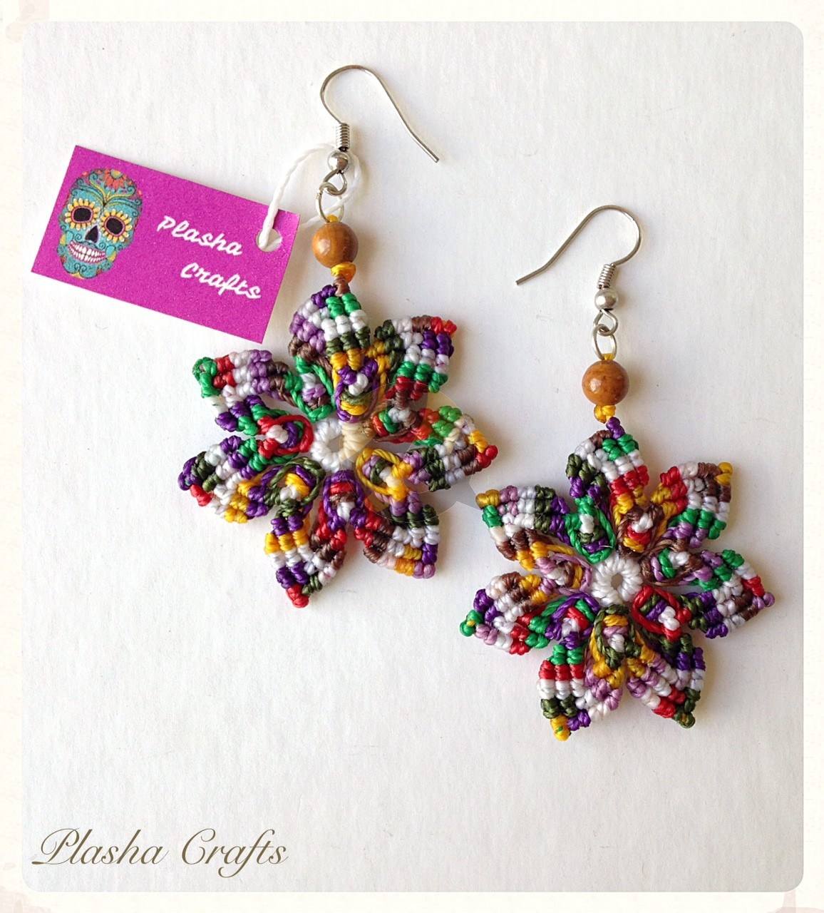 Plasha Crafts Flor Mandala Earrings México