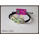 Plasha Crafts Infinito Bracelet, Light Green