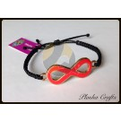 Plasha Crafts Infinito Bracelet, Orange
