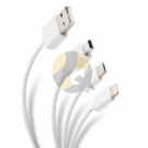 Steren 3 in 1 USB to Lightning / Micro USB / Mini USB Cable