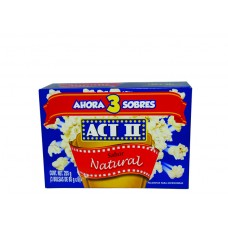 Act II Natural Popcorn 3-Pack